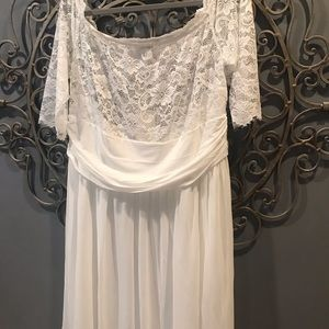 NWT lace white special occasion dress sz 3x pretty